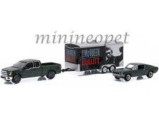GREENLIGHT 51007 BULLITT STEVE MCQUEEN 1968 FORD MUSTANG GT & TRAILER 1/64 SET