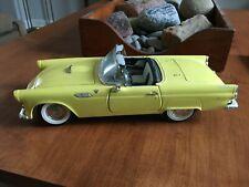1955 Thunderbird Road Signature 92068 1/18 Scale Diecast Yellow w/o hardtop