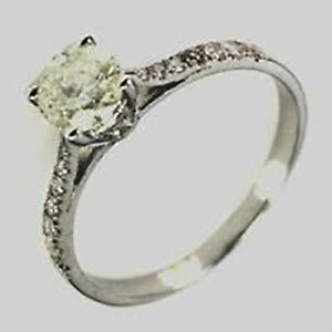 0.60Ct Tint Yellow & Tint Pink Natural Diamond 925 Silver Ring Size 4.5 nxs006