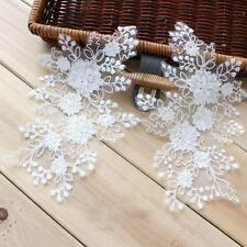 Embroidery sew on Trim Ivory Lace Motif Floral Corded Wedding Lace Applique