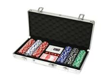 Texas Hold'Em Poker Chip Set Aluminium SET DA 300 CHIPS NUMERATE SPEDIZIONE SDA