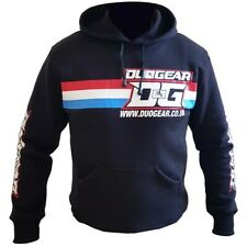 BLACK 'TWIN' HOODY TOP FOR FREESTYLE KICKBOXING SPORTS TRAINING