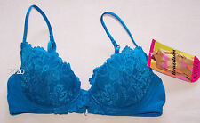 Kayser Brazilian Original Style Ladies Azure Blue Lace Bra Size 12B New