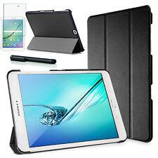 Smart Cover f. Samsung Galaxy Tab S2 9.7 Lederimitat Schutzhülle+Folie Schwarz-3