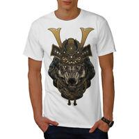 Wellcoda Wolf Warrior Animal Mens T-shirt,  Graphic Design Printed Tee