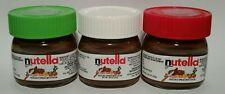 Set of 3 Mini Nutella Glass Jar 30g /1oz Perfect for Xmas Stocking MADE IN ITALY
