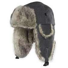"""Chaos Men's Dylon Wool Blend Trapper Hat """"HEATHER GREY"""" New with Tags!!"""