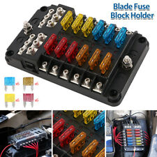 12V 12Way Fuse Block Box Holder ATC ATO for Car Truck Garavan Campervan Van CA