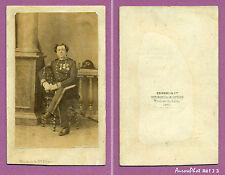 CDV DISDERI à PARIS : MILITAIRE, OFFICIER MÉDAILLÉ DE LA MARINE VERS 1865 -J3