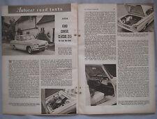 1961 Ford Consul Classic 315 Original Road test