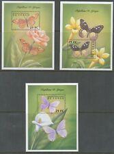 [60] Congo Rep. Bloc 183/85**, papillons - Superbes. Cote : 18 €