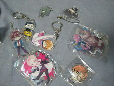 Various Mixed Japan Anime Keychains Figures Lot #G  Cute Chibi Guys Bishi