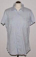 Tommy HILFIGER Camicia Tg. 14 STRETCH A Strisce petto tasche logo manica corta
