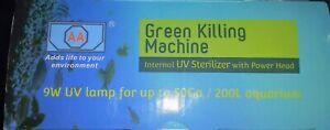 New AA Aquarium Green Killing Machine 9 Watt UV Sterilizer Kit Complete