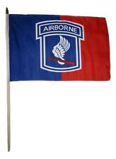 "12x18 12""x18"" 173rd Airborne Division Stick Flag wood staff"