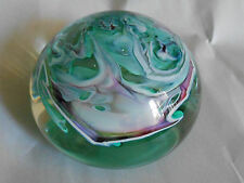 JA Hewitt Signed Art Glass Studio Paperweight 1997