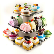 """12"""" cake stand 3 tier square cupcake tree party deco wedding babyshower 1pc"""