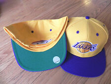 LOS ANGELES LAKERS VINTAGE SNAPBACK RETRO 2-TONE CAP HAT GOLD/PURPLE NEW!