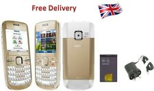 New Condition Nokia C3-00 White Gold Unlocked Wifi Qwerty Keypad Mobile Phone