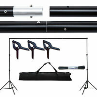 10FT Adjustable Background Support Stand Photo Backdrop Crossbar Kit Photography