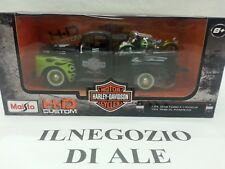 "MAISTO MODELLINO ""HD CUSTOM 1:24 1948 FORD F-1 PICKUP +1:24 1948 FL PANHEAD BIKE"