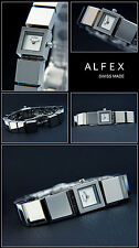 Alfex Designer Cute Watch Swiss Made Four Corner Simple NEW