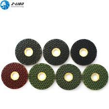 7PCS 6'' Diamond Edge Polishing Pad Resin Snail Lock Grinding Disc Wheel Granite