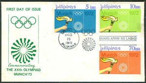 1972 Philippines Commemorating THE XXth OLYMPIAD MUNICH '72 First Day Cover