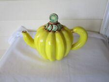 Department 56 Yellow Ceramic Banana Tea Pot w Kiwi Lid