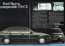 PUBLICITE ADVERTISING 027  1982  la Ford Sierra ( poster doouble page)
