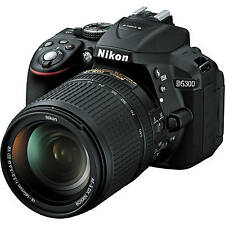 NIKON D5300 DSLR CAMERA BLACK AF-S 18-140mm F/3.5-5.6 VR LENSES,16GB CARD,BAG