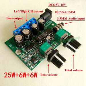 TDA2030 6W+6W+25W 2.1 Channel Stereo Subwoofer Audio Power Amplifier Board 12VDC