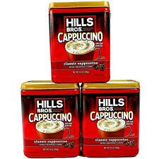 Hills Bros Cappuccino Classic Instant Flavored Cafe Coffee Mix Drink Lot of 3