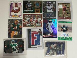 Lot Of 50 Football Cards Autos Patches Brett Favre, Russell Wilson, Joe Montana