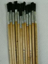 "LOT OF 12 Vintage Grumbacher 5745  1/4""  Watercolor Brush Synthetic Bristles"