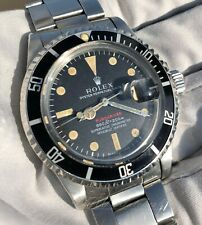 1974 Rolex Red Submariner 1680 Vintage Patina 3.6M Serial - Fat Font Insert!