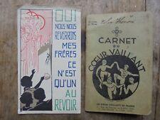 Carnet + image pieuse Cœurs Vaillants, Carmaux, Scoutisme jeunesse catholique