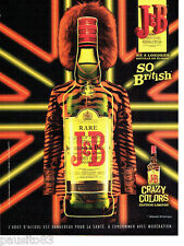 PUBLICITE ADVERTISING 086  2012  whisky J & B  crazy colors so British  2