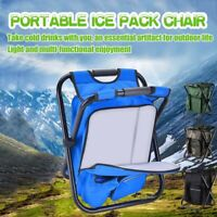 Outdoor Portable Folding Camping Hiking Fishing Picnic BBQ Stool Iced Chair.