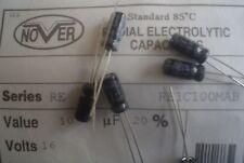200pcs NOVER  RE  10uF 16V 5.0 x 11.0 mm RADIAL ELECTROLYTIC CAPACITORS