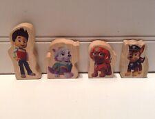 KidKraft Paw Patrol Adventure Bay Play Table Replacement Wood Figures Lot Set 4