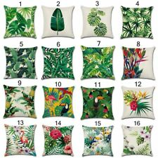 Green Leaves Pillow Cases Africa Tropical Plant Printed Cushion Cover Home Decor