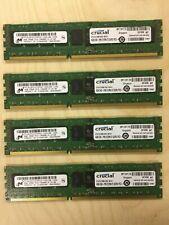 Four 4GB (16gb total) Crucial ECC Memory, DDR3 PC3-10600R, 240-pin DIMM