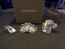 "STEUBEN DRAGON SEA SERPENT LOCH NESS ""NESSIE""  NEW BAG BOX SIGNED NIB"