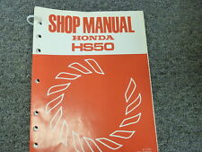 1983 Honda Model HS50 Snowblower Shop Service Repair Manual Book