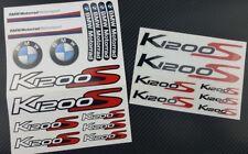 K1200S Motorrad Aufkleber blatt Laminiert stickers bmw s1200 S Motorsport