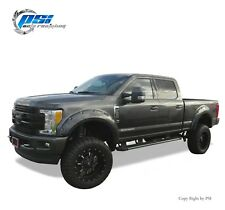 BLACK PAINTABLE Pocket Rivet Fender Flares 17-18 Ford F-250, F-350 Super Duty