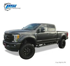 Black Paintable Pocket Rivet Fender Flares 17-20 Ford F-250, F-350 Super Duty