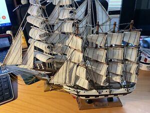 2 Wood Sailing Ship Model Sailboat Boat Nautical