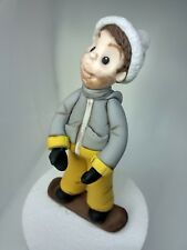 Snowboarding personalised cake topper Handmade edible birthday party decoration
